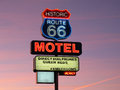 Historic Route 66 neon sign Royalty Free Stock Photos