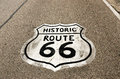 Historic Route 66 Sign Stock Image