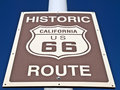 Historic Route 66 Street Sign Stock Image