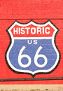 Historic route 66 symbol Royalty Free Stock Photo