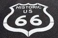 Historic route sixtysix marker in arizona Royalty Free Stock Photo