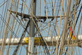 Historic sailing ship in hamburg port old Royalty Free Stock Photo