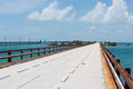 The historic seven mile bridge in the florida keys this was built by henry flagler as part of overseas railroad to key west labor Royalty Free Stock Photo