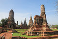 Historic site in Ayutthaya,Thailand Royalty Free Stock Photography
