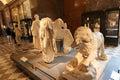 Historic statues louvre paris france Stock Images