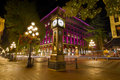 Historic Steam Clock in Gastown Vancouver BC Royalty Free Stock Photo