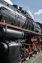 the historic steam locomotive Royalty Free Stock Photo