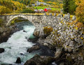 Historic Stone Bridge Roads Norway Royalty Free Stock Photo