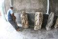 Historic stone statues Royalty Free Stock Photo