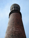 Historic stream tower at waterworks building against a blue sky in boston Royalty Free Stock Photography