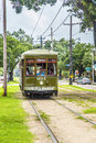 Historic streetcar St. Charles in New Orleans Royalty Free Stock Photo