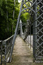 Historic Suspension Bridge - Mill Creek Park, Youngstown, Ohio Royalty Free Stock Photo