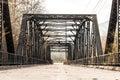 Historic Sweetwater River Steel Parker Truss Bridge Royalty Free Stock Photo