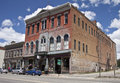 Historic tabor opera house facade of the three story red brick harrison street leadville colorado usa built in it is one of Royalty Free Stock Photos