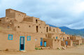 The historic taos pueblo new mexico april on april in nm usa adobe walls of mud and straw are typical of native Stock Image
