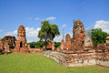 The historic temple in ayutthaya thailand wat chai watthnaram Stock Image