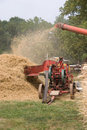Historic threshing Royalty Free Stock Photo