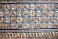 Historic Tiles wirh Royal Motifs Royalty Free Stock Photos
