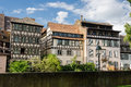 Historic timbered houses in petite France, Strasbourg, Alsace Royalty Free Stock Photo