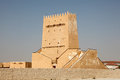 Historic tower in doha qatar the barzan middle east Stock Photos