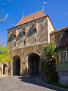 Historic tower gate sighisoara transylvania romania Stock Photo