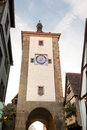 Historic tower in rothenburg ob der tauber old of the city fortification of germany Royalty Free Stock Photo