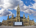 Historic town hall of vienna-austria on a sunny da Royalty Free Stock Photography