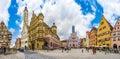 Historic town square of Rothenburg ob der Tauber, Franconia, Bavaria, Germany