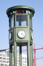 Historic traffic light on Potsdamer Platz, Berlin Stock Photos
