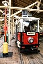 Historic tramway historical within the museum hangar Royalty Free Stock Photos
