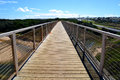 Historic trestle rail bridge kilcunda now walking platform bass coast south west gippsland victoria australia Royalty Free Stock Photos