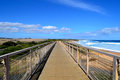 Historic trestle rail bridge kilcunda now walking platform bass coast south west gippsland victoria australia Stock Images