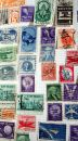 Historic U.S. Postage Stamps. Royalty Free Stock Image
