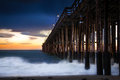 Historic ventura pier in at sunset Stock Photography