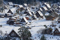 Historic Village of Shirakawa-go in winter Royalty Free Stock Photos