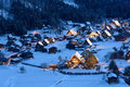 Historic Village of Shirakawa-go in winter Royalty Free Stock Photography