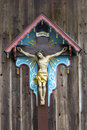 Historic wayside shrine bavaria germany seen in Stock Images