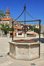 Historic well in Zadar Stock Photo