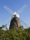 Historic windmill at west sussex halnaker uk Stock Photography