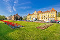 Historic Zagreb architecture and nature view Royalty Free Stock Photo