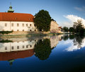 Historical architecture of Ceske Budejovice town Royalty Free Stock Images