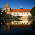 Historical architecture of Ceske Budejovice town Stock Image