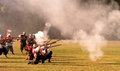 Historical battle of white mountain reconstruction in czech republic soldiers thirty years war Stock Images