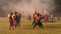 Historical battle of white mountain reconstruction in czech republic soldiers thirty years war Stock Photo