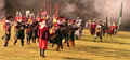Historical battle of white mountain reconstruction in czech republic soldiers thirty years war Stock Photos