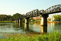 Historical bridge over the river Kwai Royalty Free Stock Photos
