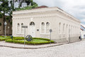 Historical building lapa parana the facade of a on a stone street of downtown brazil Royalty Free Stock Photography