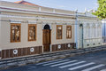 Historical buildings in amparo the facade of the colonial sao paulo brazil Stock Photo