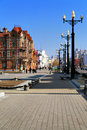 Historical buildings in the centre of Khabarovsk Royalty Free Stock Photography