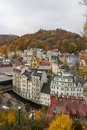 Historical center of Karlovy Vary Stock Photography